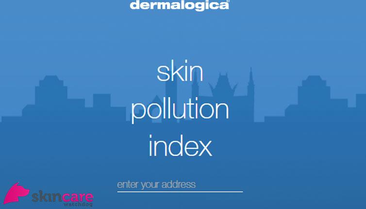 Skin pollution index app